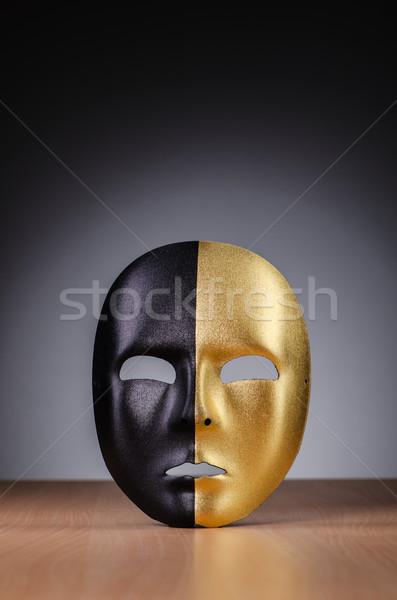 Masker donkere gezicht achtergrond theater gezichten Stockfoto © Elnur