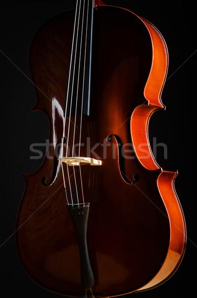 Keman karanlık oda müzik Retro renk Stok fotoğraf © Elnur