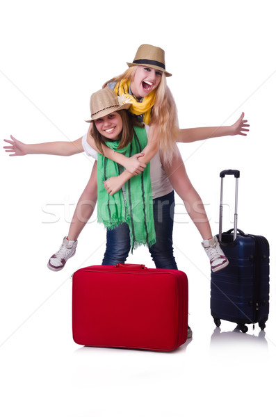 Stock photo: Pair of young students travelling