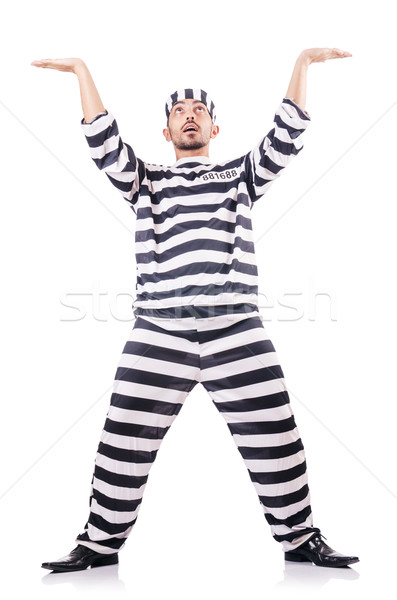 Mahkum ceza çizgili üniforma hukuk polis Stok fotoğraf © Elnur