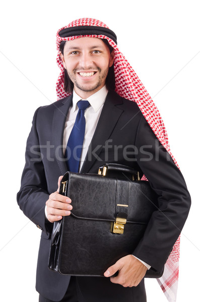 Arab man isolated on the white Stock photo © Elnur