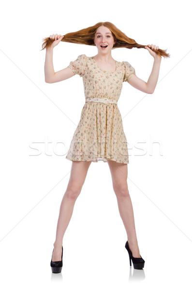 Donna moda abbigliamento ragazza modello capelli Foto d'archivio © Elnur