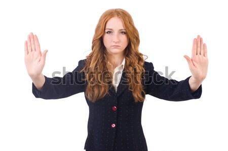 женщину деловая женщина бизнеса изолированный белый девушки Сток-фото © Elnur