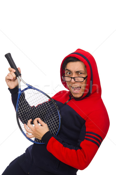 Stock photo: Young man wearing sport costume isolated on white