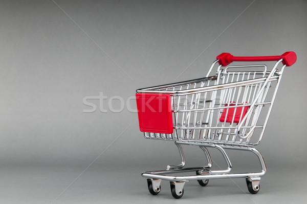 Cesta de la compra sin costura cuadro tienda tienda blanco Foto stock © Elnur