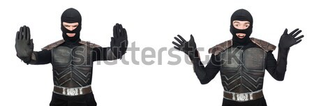 Funny ninja isolated on the white background Stock photo © Elnur