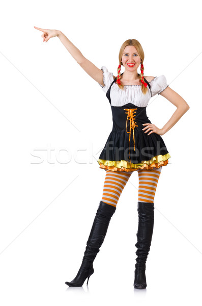 Woman in bavarian costume isolated on white Stock photo © Elnur