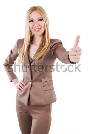 Beautiful businesslady in elegant suit isolated on white Stock photo © Elnur
