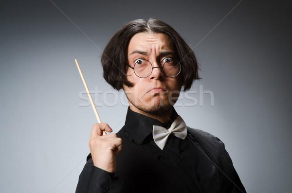 Vicces musical háttér koncert fekete klasszikus Stock fotó © Elnur