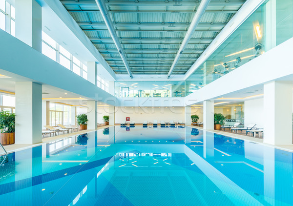 Stock photo: Indoor swimming pool in healthy concept