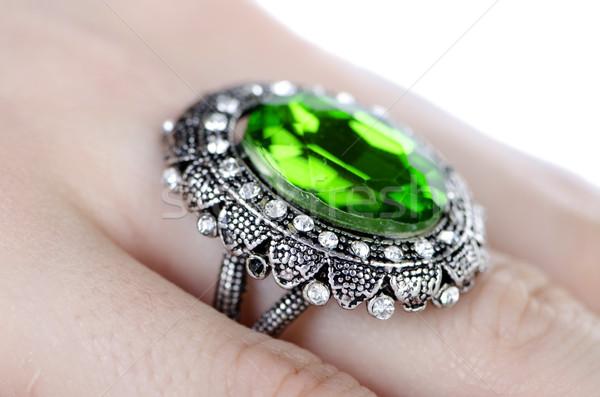 ékszerek gyűrű elnyűtt ujj kéz lánc Stock fotó © Elnur