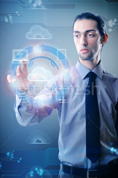 человека Кнопки интернет ноутбука Сток-фото © Elnur