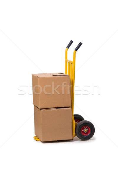 Shipping cart isolated on the white background Stock photo © Elnur