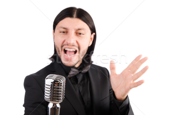 Man singing in the karaoke club Stock photo © Elnur