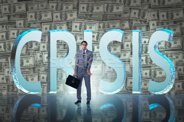 The businessman in crisis business concept Stock photo © Elnur