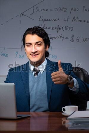 Stockfoto: Zakenman · business · computer · internet · gelukkig