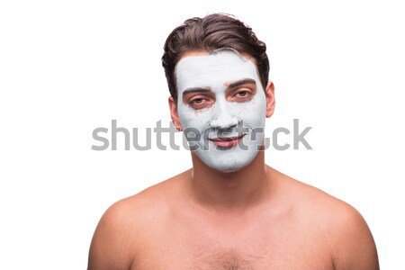 Homme boue masque isolé homme blanc blanche Photo stock © Elnur