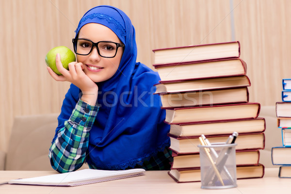 Muslim girl preparing for entry exams Stock photo © Elnur