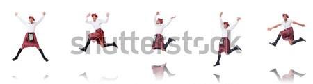 Scottish man dancing on white Stock photo © Elnur