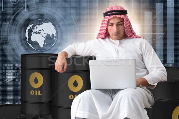 アラブ ビジネスマン 取引 油 ノートパソコン ビジネス ストックフォト © Elnur