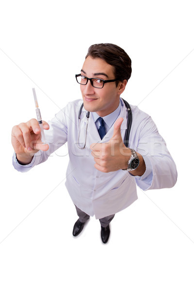Male doctor isolated on the white background Stock photo © Elnur