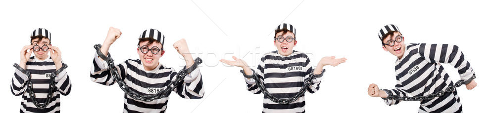Grappig gevangenis bewoner man keten slot Stockfoto © Elnur