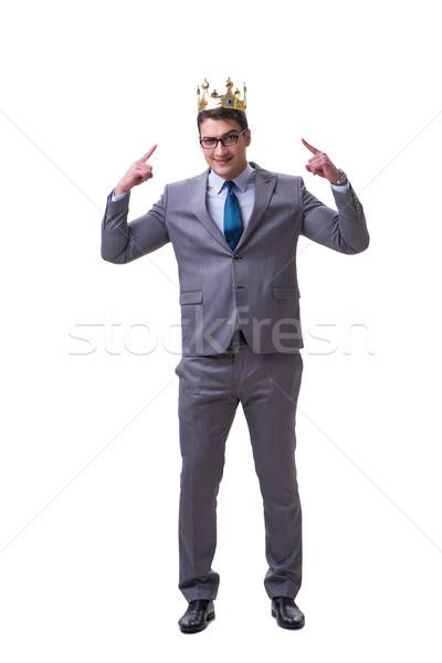 Rei empresário isolado branco trabalhar executivo Foto stock © Elnur