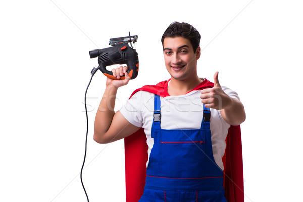 Super hero repairman isolated on the white Stock photo © Elnur