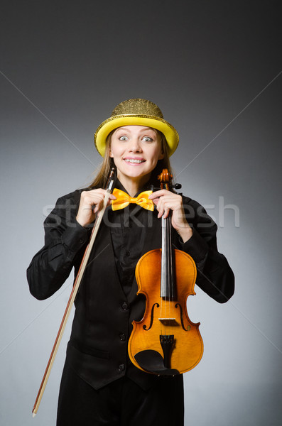 Woman in musical art concept Stock photo © Elnur