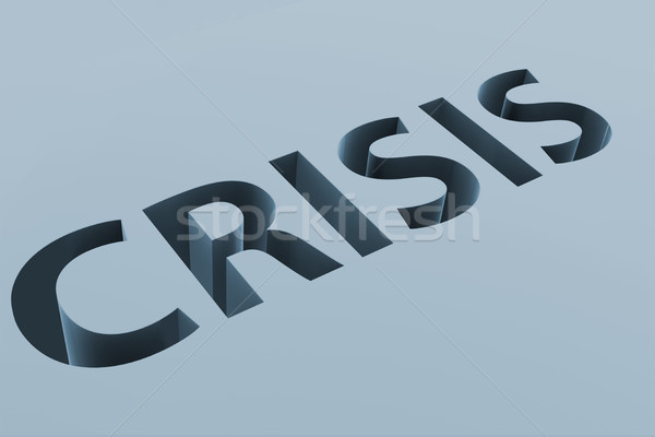 Financial crisis business concept with letters on ground Stock photo © Elnur