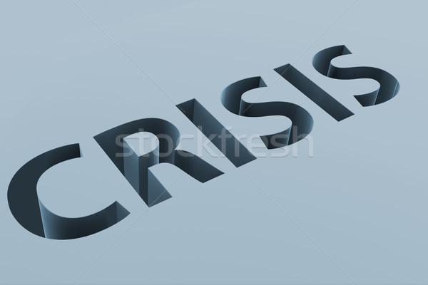 Crisi finanziaria business lettere terra soldi finanziare Foto d'archivio © Elnur