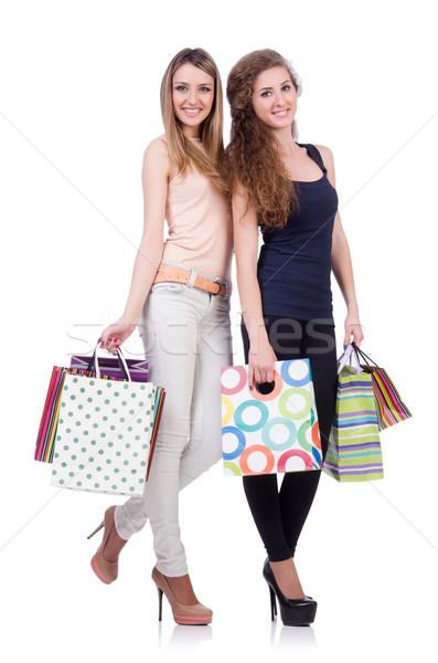 Legjobb barátok vásárlás fehér nő nők boldog Stock fotó © Elnur