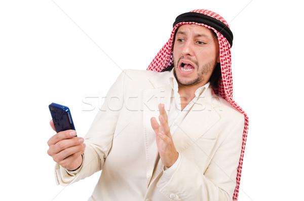 Emiraty człowiek różnorodności działalności telefonu biznesmen Zdjęcia stock © Elnur