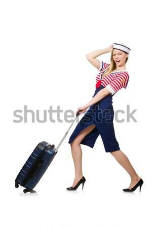 Kadın bacaklar yalıtılmış beyaz kız seksi Stok fotoğraf © Elnur