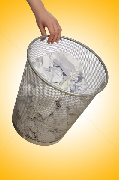 рук мусора бумаги служба стороны Сток-фото © Elnur