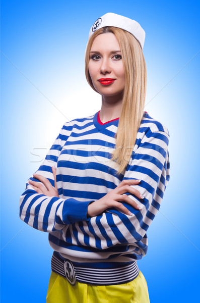 Woman in sailor costume isolated on white Stock photo © Elnur