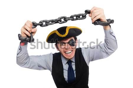 Giovani pirata spada isolato bianco Foto d'archivio © Elnur