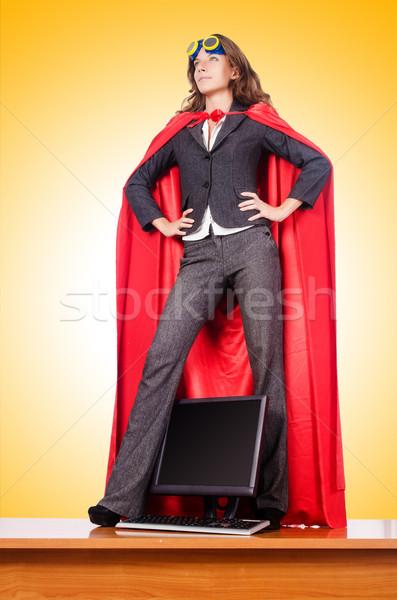 Businesswoman in superwoman concept Stock photo © Elnur