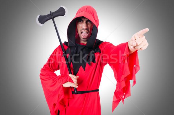 Rosso costume ax bianco divertimento maschera Foto d'archivio © Elnur