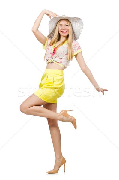 Moda modello dancing estate bianco Foto d'archivio © Elnur