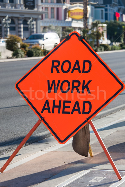 Road sign on the street Stock photo © Elnur