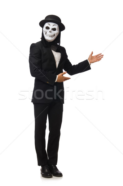 Man with scary mask isolated on white Stock photo © Elnur