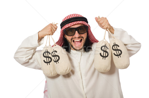 Arab üzletember pénz üzlet férfi munka Stock fotó © Elnur