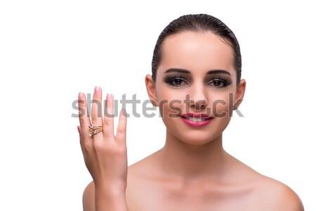 элегантный женщину ювелирных моде лице фон Сток-фото © Elnur