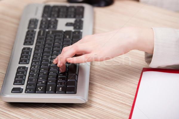рук рабочих клавиатура служба стороны интернет Сток-фото © Elnur