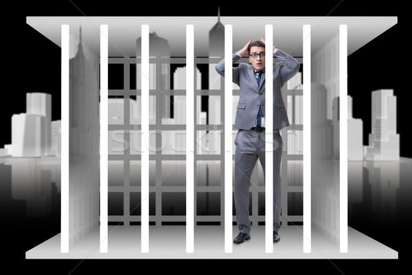 Empresario jaula negocios hombre trabajo ley Foto stock © Elnur