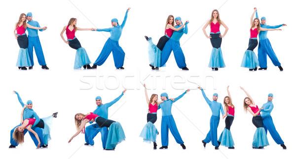 Pár táncosok tánc modern tánc izolált Stock fotó © Elnur