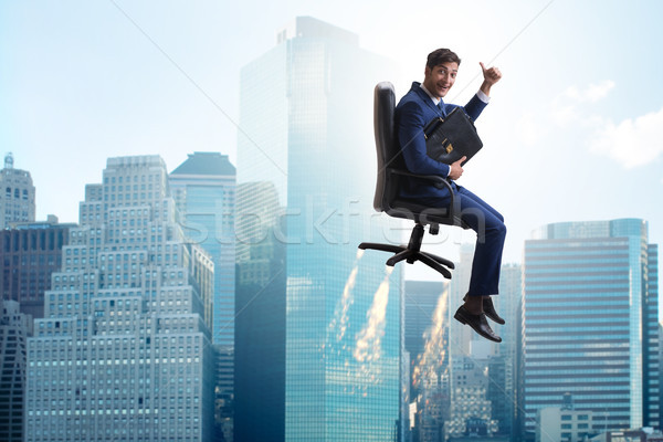 Businessman in career progression concept Stock photo © Elnur
