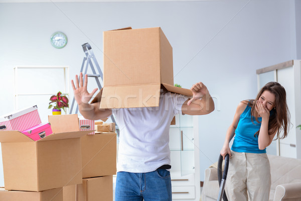 Young family moving to new apartment Stock photo © Elnur