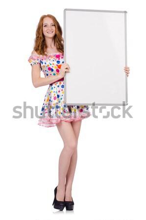 Utaskíserő tábla fehér mosoly divat nyár Stock fotó © Elnur
